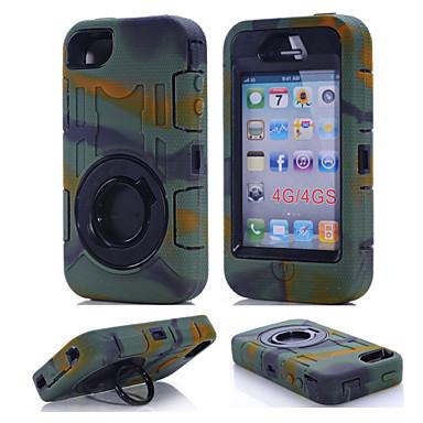 Için iPhone 7 Kılıf iPhone 7 Plus Kılıf Su / Kir / Şok Kanıtı Yüzüklü Tutacak Pouzdro Tam Kaplama Pouzdro Solid Renkli Sert PC için Apple