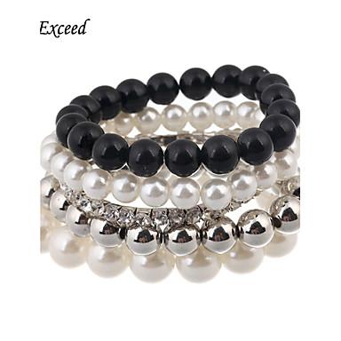 Femme Bracelets de rive Verre Imitation de diamant Alliage Mode Bijoux 1pc