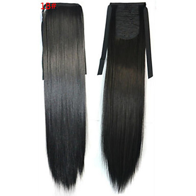 Straight Ponytails Synthetic Hair Piece Hair Extension 18 inch Black Natural Black