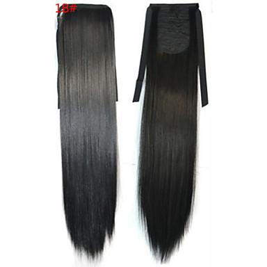 Pferdeschwanz Synthetische Haare Haarstück Haar-Verlängerung Glatt