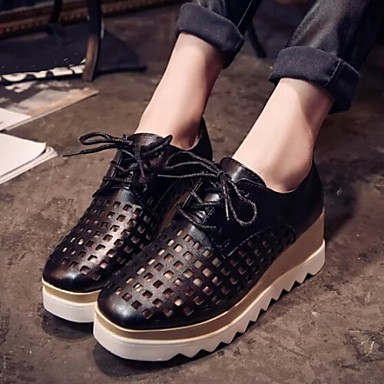 Women's Shoes Leatherette Spring Summer Fall Comfort Wedge Heel for Casual Outdoor Black Silver