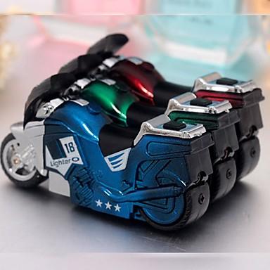 мини-мотоцикл образный ветрозащитный бутан зажигалка (случайный цвет)