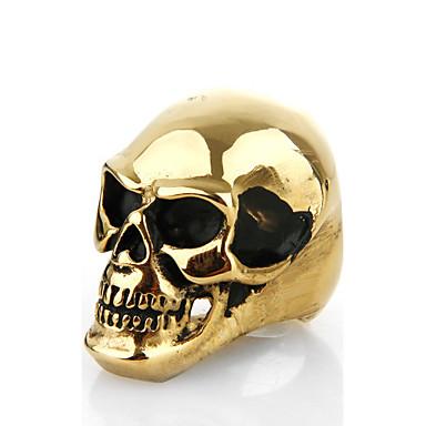 Εντυπωσιακά Δαχτυλίδια Μοντέρνα Πανκ Στυλ Ευρωπαϊκό Ανοξείδωτο Ατσάλι Κράμα Skull shape Κοσμήματα Για Πάρτι 1pc