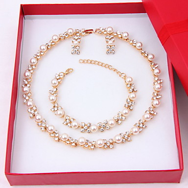 Women's Alloy Wedding Party Special Occasion Anniversary Birthday Engagement Gift Daily Earrings Necklaces Bracelets Costume Jewelry