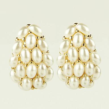 Σκουλαρίκι Κουμπωτά Σκουλαρίκια Κοσμήματα 2pcs Κράμα / Απομίμηση Μαργαριταριού / Στρας Γυναικεία Χρυσαφί / Λευκό