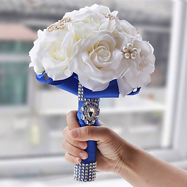 Λουλούδια Γάμου Μπουκέτα Γάμου Πολυεστέρας Σατέν Αφρός 10,24
