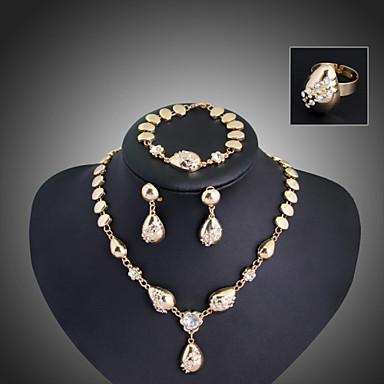 Βίντατζ/Πάρτι/Γραφείο/Καθημερινό - Κρεμαστό/Σκουλαρίκι/Βραχιόλι/Δαχτυλίδι για Γυναίκα (Κράμα/Τετράγωνο ζιργκόν/Πέτρα & κρύσταλλο)