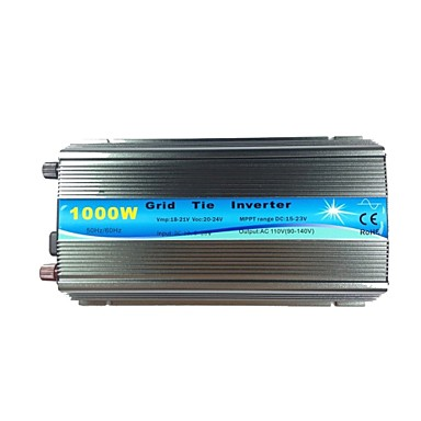 Grid Tie Inverter 1000W MPPT Function Pure Sine Wave 110V Output 18V Input Micro On Grid Tie Inverter 18V 36 Cells