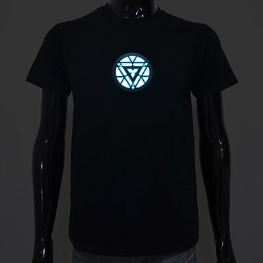 led t-shirt ses aktive led ışık pamuk yenilik yüksek kalite