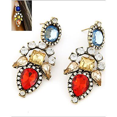 Γυναικεία Κρεμαστά Σκουλαρίκια Πολύχρωμα Κοσμήματα με στυλ Μοντέρνα Ευρωπαϊκό Συνθετικοί πολύτιμοι λίθοι Κράμα Κοσμήματα Κοστούμια