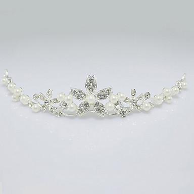 Απομίμηση Μαργαριταριού Στρας Κράμα Τιάρες 1 Γάμου Headpiece