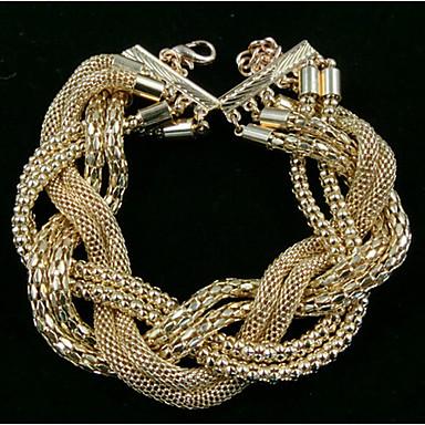 Kubikzirkonia Niedlich Lederarmbänder - Party Erklärung Simple Style Gold Armbänder Für Weihnachts Geschenke