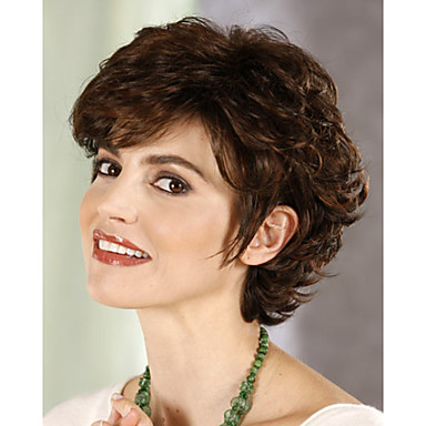 Szintetikus parókák Göndör Sűrűség Sapka nélküli Női Rövid Szintetikus haj