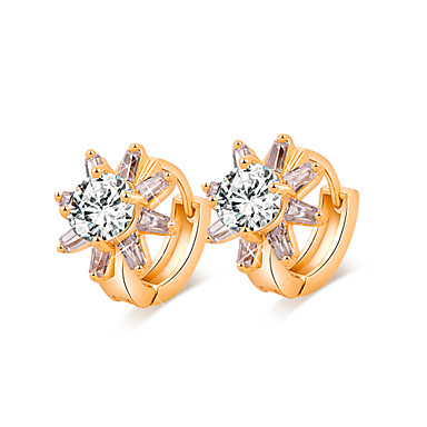 JJL Women's Fashion Pure And Fresh Sunflower 18 k Gold Plated Earring