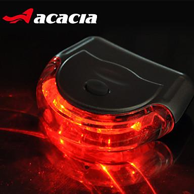Bisiklet Işıkları Bisiklet Arka Işığı emniyet ışıkları - - Bisiklet Kolay Taşınır Düğme Pil Lümen USB Batarya Bisiklete biniciliği-Acacia