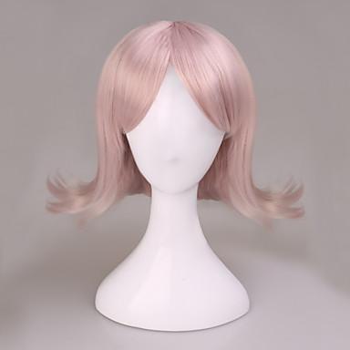 Cosplay Wigs Dangan Ronpa Chiaki Nanami Pink Short Anime Cosplay Wigs 37 CM Heat Resistant Fiber Male / Female