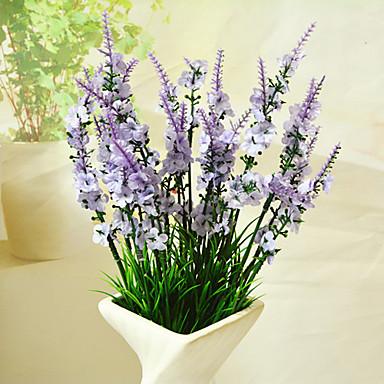 Artificial Flowers 1 Branch Modern Style Lavender Tabletop Flower