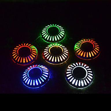 6 LEDit Kylmä valkoinen Ladattava Koristeltu Patteri