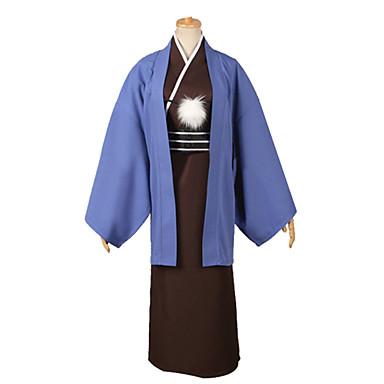 Esinlenen Kuroko no Basket Kuroko Tetsuya Video oyun Cosplay Kostümleri Cosplay Takımları Solid Uzun Kollu Kimono Palto