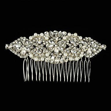 rhinestone alloy hair combs headpiece klassinen naisellinen tyyli