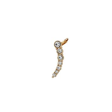 baratos Bijuteria de Mulher-Mulheres Punhos da orelha Strass Imitações de Diamante Brincos Jóias Prata / Dourado Para Casamento Festa Diário Casual Esportes