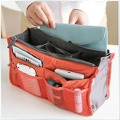 Unisex Bags Canvas Acrylic Cosmetic Bag for Outdoor Professioanl Use All Seasons Orange Green Pink Wine Light Blue
