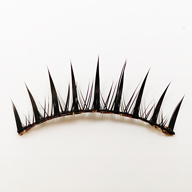 1 Pairs Black Fiber False Eyelashes Cosmetic Beauty Care Makeup for Face