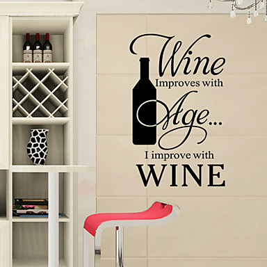 Romance Fashion Shapes Food Holiday Words & Quotes Cartoon Fantasy Wall Stickers Words & Quotes Wall Stickers Fridge Stickers, PVC Home