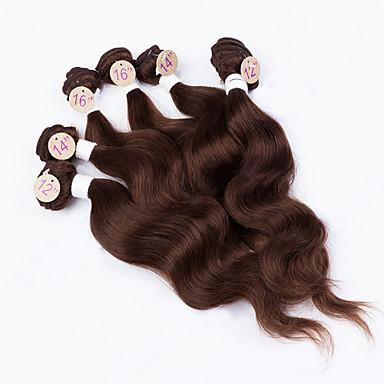 baratos Extensões de Cabelo Natural-Cabelo Brasileiro Onda de Corpo 10A Cabelo Virgem Precolored Tece cabelo Tramas de cabelo humano Extensões de cabelo humano Mulheres