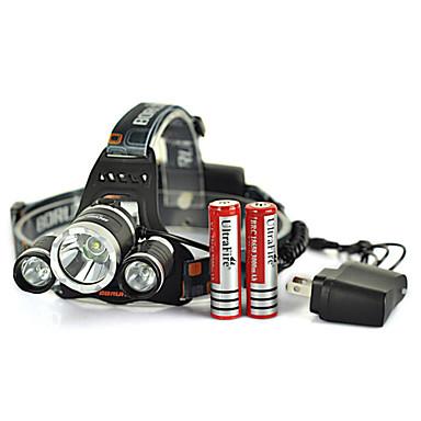 Kafa Lambaları / Far sapanlar LED 5000 Lümen 4.0 Kip Cree XM-L T6 Şarj Edilebilir / Acil / savunma Bisiklete biniciliği Aluminyum alaşım