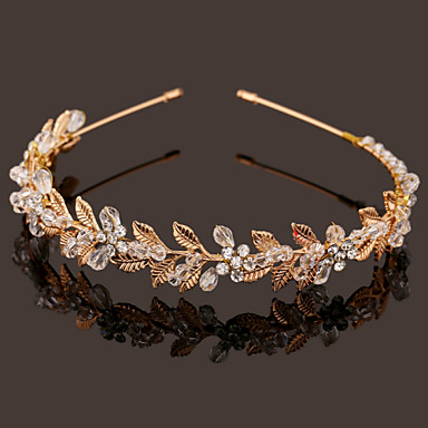 Pearl Crystal Imitation Pearl Headbands 1 Wedding Special Occasion Headpiece