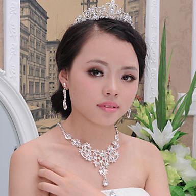 Νυφικό Ευρωπαϊκό απομίμηση διαμαντιών Κράμα Κολιέ Cercei Για Γάμου Πάρτι 1set Δώρα Γάμου