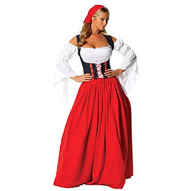 Hizmetçi Elbiseleri Bavyera Kasım Festivali Cosplay Kostümleri Parti Kostümleri Kadın's Cadılar Bayramı Kasım Festivali Festival / Tatil