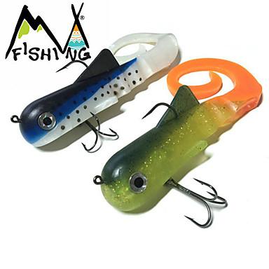 2 pcs Leurre souple / Swimbaits / Kits de leurre / leurres de pêche Kits de leurre / Leurre souple / Jerkbaits Violet 115 g Once mm/12