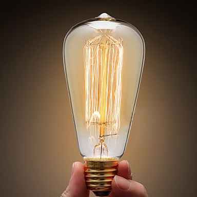 Ecolight™ 1pc 40W E27 E26 / E27 ST64 Warm White 2300k Incandescent Vintage Edison Light Bulb 220-240V