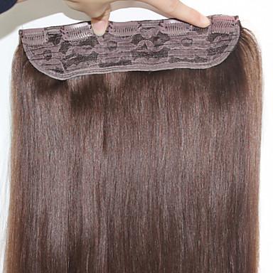 πλήρες τέλος ανθρώπινη κλιπ τρίχα στα μαλλιά επεκτάσεις # 1 # 1b # 2 # 4 # 6 # 8 100g / τεμάχιο ίσια μαλλιά 20