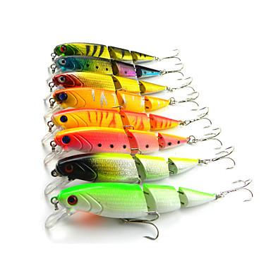 8 pcs Рыболовная приманка Жесткая наживка Воблер прогонистой формы Жесткие пластиковые Тонущие Морское рыболовство Пресноводная рыбалка Ловля мелкой рыбы