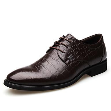 Αντρικό Παπούτσια Δέρμα Άνοιξη Καλοκαίρι Φθινόπωρο Χειμώνας Ανατομικό Oxfords Κορδόνια Για Γάμου Πάρτι & Βραδινή Έξοδος Μαύρο Καφέ