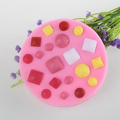 κουμπί κόσμημα σε σχήμα κέικ φοντάν μούχλα μούχλα σιλικόνης σοκολάτα, τα εργαλεία διακόσμησης bakeware