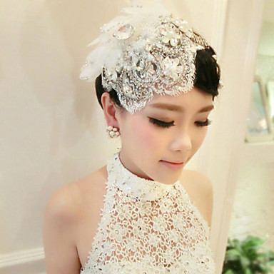 Acrylic Barrette Headpiece Wedding Party Elegant Feminine Style