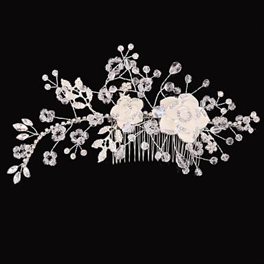 Kobiety / Flower Girl Rhinestone Winieta-Ślub / Piękny Hair Combs 1 sztuka