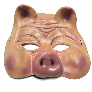 Halloween Masks Toys Pig Silicone Horror Pieces Halloween Masquerade Gift