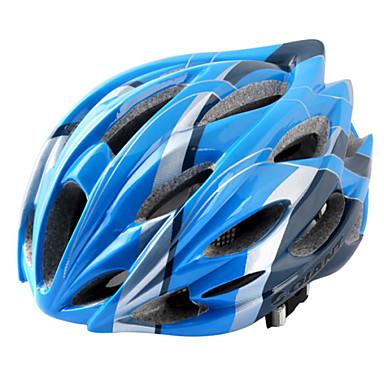 여성용/남성용/남여 공용 - 스포츠 - 사이클링/도로 사이클링/레크리에이션 사이클링 - 헬멧 ( 옐로우/레드/핑크/블루 , PC/EPS ) 28 통풍구