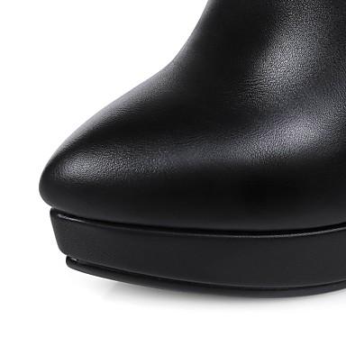 Automne Hiver Talon 04218950 Demi Botte Femme Habillé Noir Similicuir Paillette Brillante Pour Bottine Chaussures Aiguille Printemps CwInapatxq