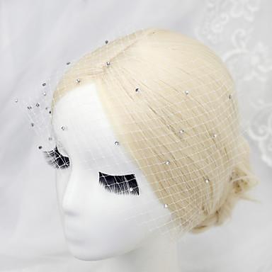 Pedraria & Cristal / Tule / Strass Headbands / Peça para Cabeça com Cristais / Penas 1 Casamento / Ocasião Especial / Aniversário Capacete