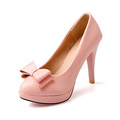 Piikkikorko-Naisten-Synteettinen-Pinkki Valkoinen Pronssi-Toimisto Puku Rento-Persu avokkaat