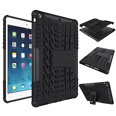 For Case Cover Shockproof with Stand Back Cover Case Solid Color Hard Silicone for Apple iPad (2017) iPad Air  Pro9.7 mini 1234 Pro10.5