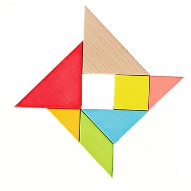 7 τεμαχίων σύνολο ορίσετε το χρώμα Tangram ξύλινα παζλ παιδιά σπαζοκεφαλιά παιχνίδι δώρο