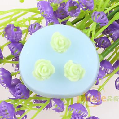 çiçek şeklinde fondan kek çikolata silikon kalıpları, dekorasyon araçları bakeware