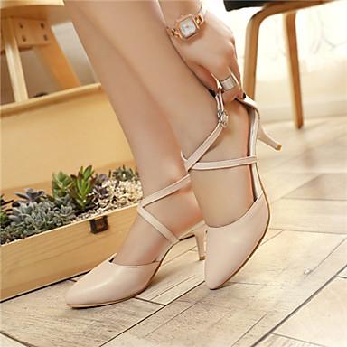 Γυναικεία παπούτσια - Γόβες - Γραφείο & Δουλειά / Καθημερινά - Γατίσιο Τακούνι - Με Τακούνι / Μυτερό - Δερματίνη - Μαύρο / Ροζ / Άσπρο